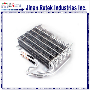 aluminum pipe aluminum finned tube evaporator for home refrigerator
