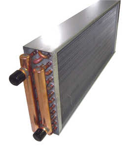 water to air copper tube heat exchanger for freezer