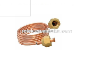 Refrigeration copper tube with copper nuts