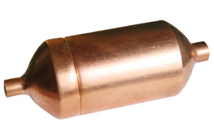 Copper tube accumulator for visi cooler
