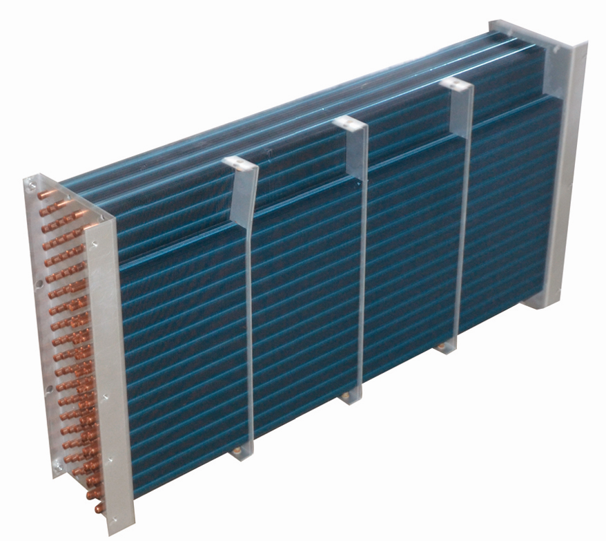 Commercial copper in heat exchanger For freezing