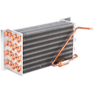 Refrigeration copper tube aluminium finned evaporator